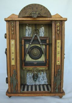 Original Art Mixed Media Found Object Box Assemblage by TheBeatGallery on Etsy https://www.etsy.com/listing/192958897/original-art-mixed-media-found-object