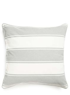 Large Broad Stripe Canvas Cushion Cover, Grey