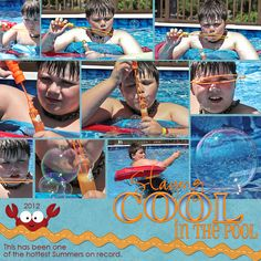 mini #6 looks like fun~Cool in the Pool - Scrapbook.com