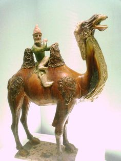 Westerner on a camel, Chinese Tang Dynasty (618-907). Shanghai Museum