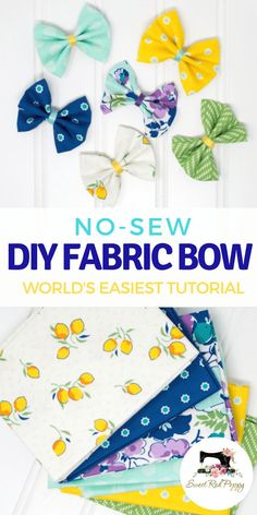 Easy No-Sew Girls Hair Bow Tutorial with Video and Step by Step Tutorial.