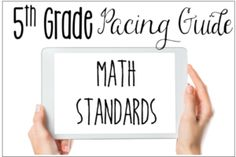 5th Grade Math Pacing Guide {Free}