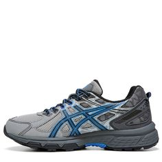 ASICS Men's Gel-Venture 6 Trail Running Shoes (Grey/Black/ Blue)