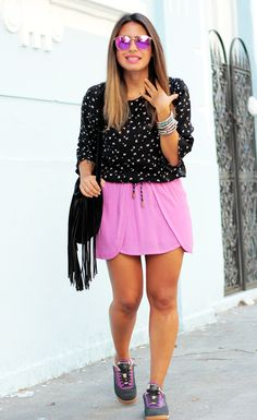 Small Fashion Diary: look do dia: radiant orchid!