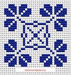 Graphic form, free cross stitch patterns and charts - www.free-cross-stitch.rucniprace.cz