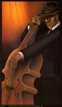 Jazz City IV  Art Print. #music @Lexi Lee R Taylor #artwork #musicart www.pinterest.com/TheHitman14/music-art-%2B/