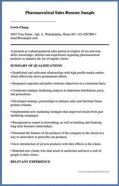 pharmaceutical sales resume sample - Pharmaceutical Sales Resume Sample