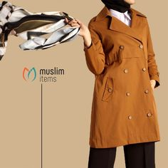 #muslimitems muslimitems-Buttoned & Pocketed Trench Coat  #hijab #hijabfashion #...#coat #hijab #hijabfashion #muslimitems #muslimitemsbuttoned #pocketed #trench Wedding Hands, Muslim Hijab, Hand Watch, Islamic Fashion, Ethnic Dress, Hijab Fashion, Trench, Overalls, Raincoat