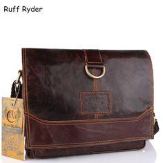 b2c0470e4bc8 Ruff Ryder Genuine Leather Men Bag Men Messenger Bags Shoulder Crossbody  Bags for Man Handbag Casual Men s Briefcases Hot Sale-in Crossbody Bags  from ...