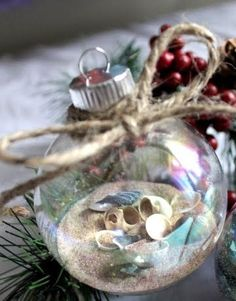 filled clear ball ornament crafts