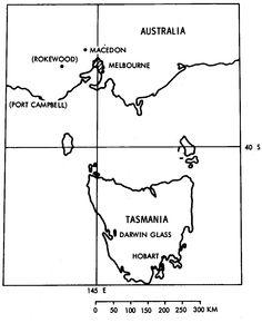 The Macedon-Darwin glass strewn field.
