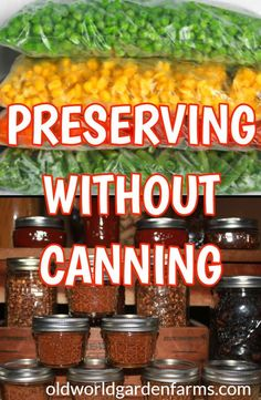 Don't have the equipment or time to can your vegetables this year? No worries - learn how to preserve summer's bounty without canning! #preserve #preserving #farmtotable #canning #waterbath #pressurecan #freeze #driedvegetables #dehydrator #oldworldgardenfarms