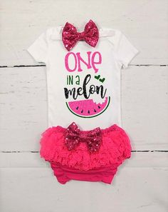 watermelon first birthday outfit girls first birthday outfit summer first birthday outfit melon first birthday outfit pink watermelon by TheLittleQueenBee on Etsy