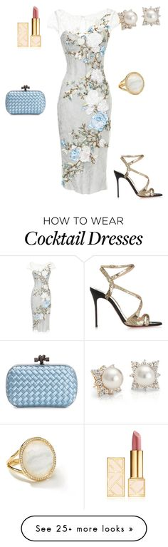 """COCKTAIL IN LATE AFTERNOON"" by stylev on Polyvore featuring Marchesa, Ippolita, Tory Burch, Bottega Veneta, Blue Nile and Christian Louboutin"