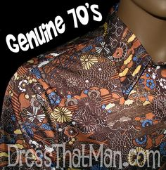 XL Disco Shirts for Men from the 1970's