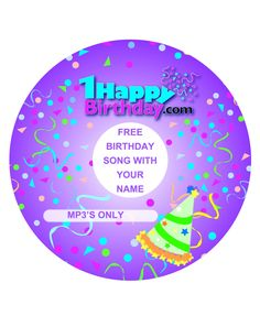 Free Happy Birthday Song with your name ready for free download at 1HappyBirthday.com