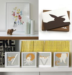 cute prints, one letter per frame #baby #roomspiration