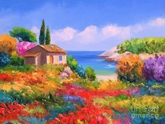 Little House By The Sea Painting by Tim Gilliland