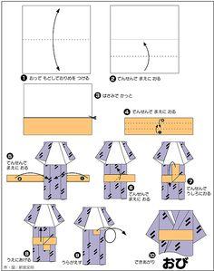Origami Instructions | kimono origami,origami kimono instructions,origami kimono doll,origami ...
