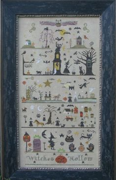 Witches Hollow counted cross stitch pattern by The Primitive Needle...If anyone has this pattern new or used, I would love to buy it!