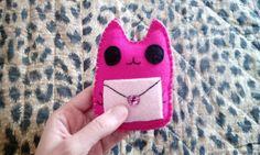 Pupazzo gatto Ho una lettera per te  kawaii di BarbaraCreazioni, €5.90