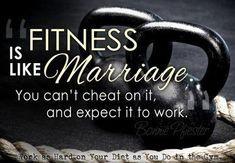 Fitness is like marrige