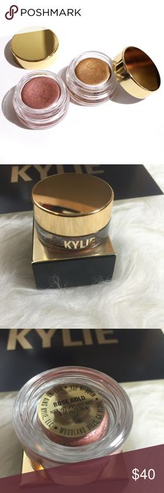 Kylie Jenner Birthday Edition Creme Shadow Kylie Jenner birthday edition creme eye shadow. Rose gold color. Limited edition. 0.18 oz. Kylie Cosmetics Makeup Eyeshadow