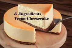 Vegan Cheesecake This cheesecake is the absolutely delicious and it has only 5 ingredients. The most important thing is that it is a healthy variation of cheesecake. Vegan Tofu Cheesecake, Dairy Free Cheesecake, Vegan Cake, Cheesecake Recipes, Tofu Dessert, Vegan Dessert Recipes, Vegan Sweets, Dairy Free Recipes, Vegan Foods