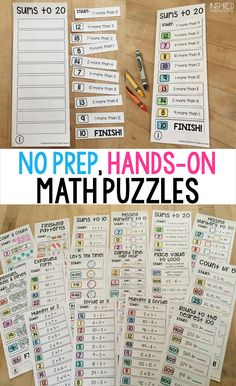 Solve It Strips are a FUN, hands-on, no prep, math activity that is perfect for those early finishers! Students will stay engaged, working hard to use their mental math skills in putting these puzzles together.