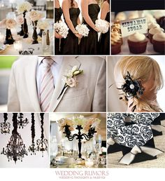 ivory dark purple and lilac wedding color | Ivory and black make a simple yet lovely wedding palette. Ivory works ...