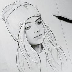 Sketchin art i 2019 drawings, art sketches och realistic drawings в яндекс. Girl Drawing Sketches, Pencil Art Drawings, Realistic Drawings, Cute Drawings, Drawing Style, Amazing Drawings, Dibujos Tumblr A Color, Art Sketchbook, Drawing People