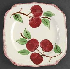 Blue Ridge Pottery Crab Apple Salad Plate 4688544 | eBay & Blue Ridge Pottery I have a lot of these pieces plates pitchers ...