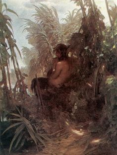 'Pan Among The Reeds' by Arnold Böcklin. (1859)