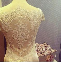 lace backed wedding gown