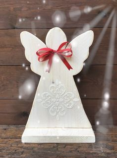 Wood Angel, Garden Angels, Hobby, Wood Art, Ideas Para, Wood Projects, Christmas Ideas, Carving, Rustic