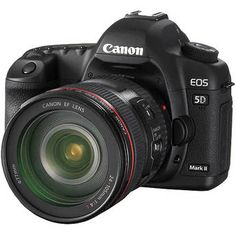 Canon EOS 5D Mark II + 24-105mm Lens. I'd trade my old Rebel XT for this beauty.