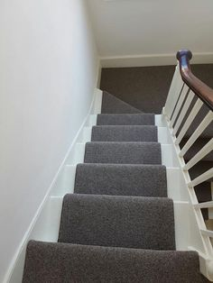 Grey Carpet Runner to Stairs