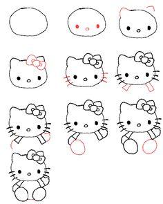 Hello kitty tekenen