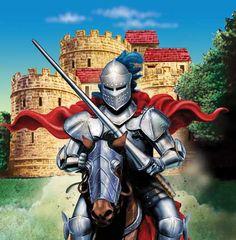 Een lekker groot plastic ridder tafelkleed, om heerlijk op te knoeien. www.creakelder.nl