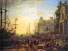 Port de mer avec la villa Médicis - Claude Lorrain - Utpictura18