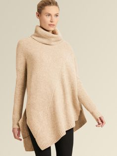 Meet the turtleneck of your dreams. Rendered in plush cashmere with a snug ribbed collar and cuffs, this asymmetrical layer flatters with a bias, cross-body seam while keeping you unbelievably cozy. Cashmere Turtleneck, Ribbed Sweater, Cashmere Sweaters, Turtleneck Fashion, Fox Coat, Best Casual Outfits, Faux Shearling Coat, Asymmetrical Sweater, Sweater Sale