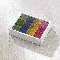 Rainbow Crystal Pattern Cubes (12pcs) - perfect for the light table and light play #ULTG  See them on Caution! Twins at Play Blog or The Ultimate Light Table Guide!