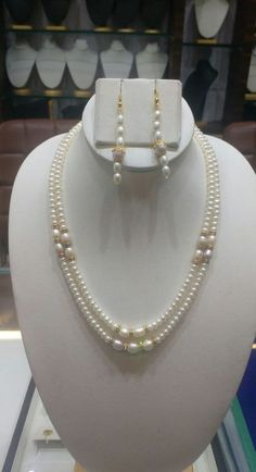 Beading is among the most popular niches in fashion jewelry making and truly so. It takes a lot of abilities and patience in order to make complex and creative pieces from simply a lot of beads and string. Bead Jewellery, Pearl Jewelry, Wedding Jewelry, Jewelery, Pearl Necklace Designs, Diy Necklace, Necklaces, Diy Schmuck, Schmuck Design