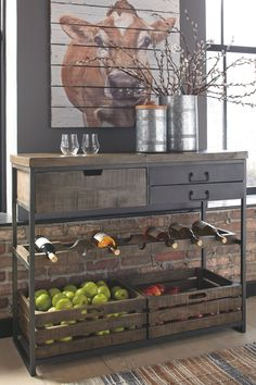 Ponder Ridge - Black/Brown - Accent Cabinet by Signature Design by Ashley. Get your Ponder Ridge - Black/Brown - Accent Cabinet at Railway Freight Furniture, Albany GA furniture store. Farmhouse Furniture, Dining Furniture, Farmhouse Decor, Home Furniture, Farmhouse Style, Modern Farmhouse, Antique Furniture, Furniture Dolly, Furniture Logo
