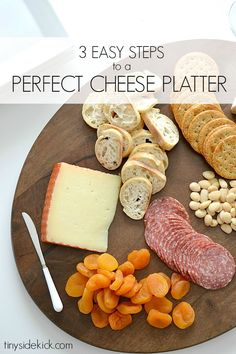 Going to be entertaining family and friends this season and loving these 3 Steps to a Perfect Cheese Platter to make appetizer time super easy! Yummy Appetizers, Appetizers For Party, Appetizer Recipes, Snack Recipes, Cooking Recipes, Party Snacks, Wine Tasting Party, Incredible Edibles, Cheese Platters