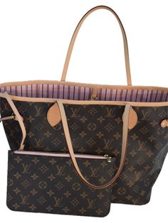 """Louis Vuitton """" New"""" Louis Neverfull Mm Monogram - - Dustbag & Zippered Removable Clutch Limited Edition -Rose Ballerine Tote Bag. Get one of the hottest styles of the season! The Louis Vuitton """" New"""" Louis Neverfull Mm Monogram - - Dustbag & Zippered Removable Clutch Limited Edition -Rose Ballerine Tote Bag is a top 10 member favorite on Tradesy. Save on yours before they're sold out!"""