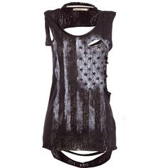 Crafted Flag Vest Top