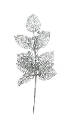 Styled Sealed Delivered - poinsettia | silver | Christmas decoration