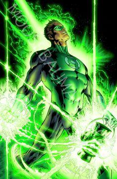 Green Lantern by MooseBaumann Green Lantern Green Arrow, Green Lantern Comics, Green Lantern Hal Jordan, Green Lanterns, Comic Books Art, Comic Art, Book Art, Superhero Characters, Dc Characters