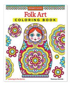 Folk Art Coloring Book Zulilyfinds